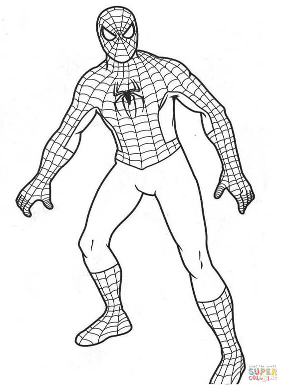 Spiderman Coloring Page Free Printable Coloring Pages