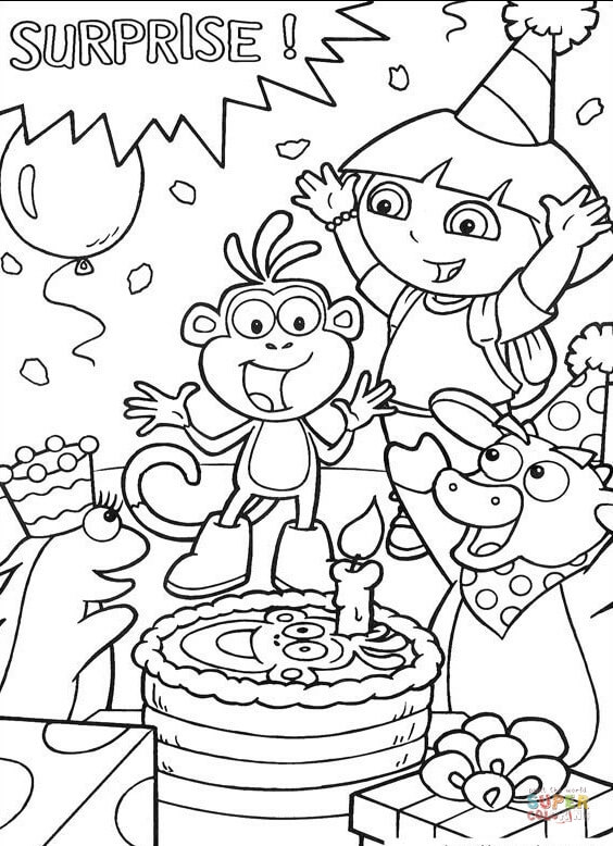 dora coloring pages printable # 10