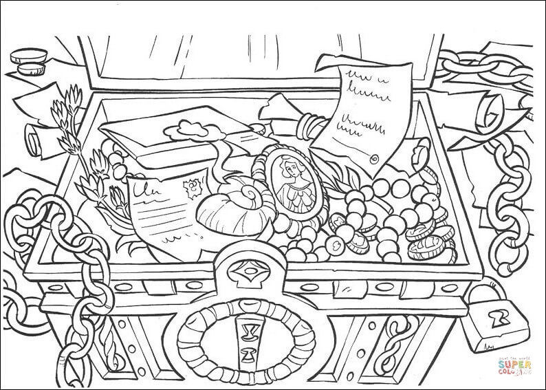 The Treasure Colouring Pages Sketch Coloring Page