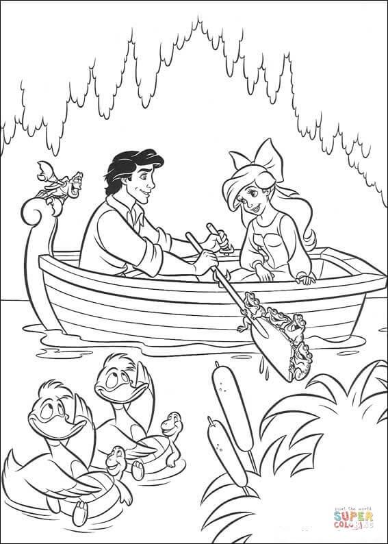 Rey Triton Dibujo Para Colorear