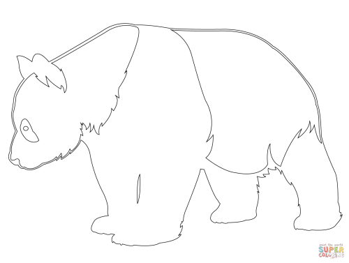 small resolution of outline of panda bears wiring diagrams u2022giant panda outline coloring page free printable coloring pages