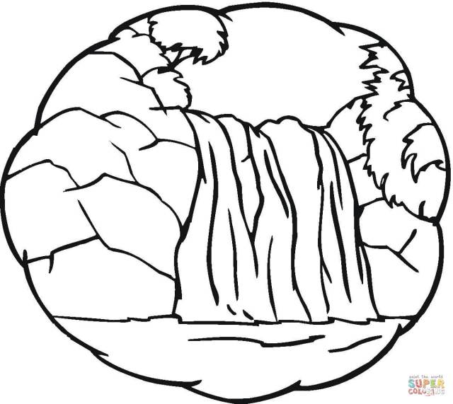 Little Waterfall coloring page  Free Printable Coloring Pages