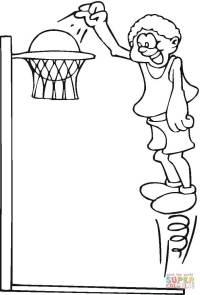 Disegno di Giocando a basket da colorare