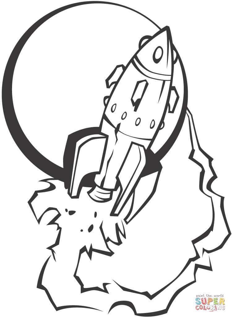 Colorear Cohete. Affordable Cohete Para Recortar Y Pegar
