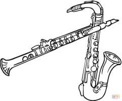 Ausmalbild Zwei Saxofone   Ausmalbilder kostenlos zum ...