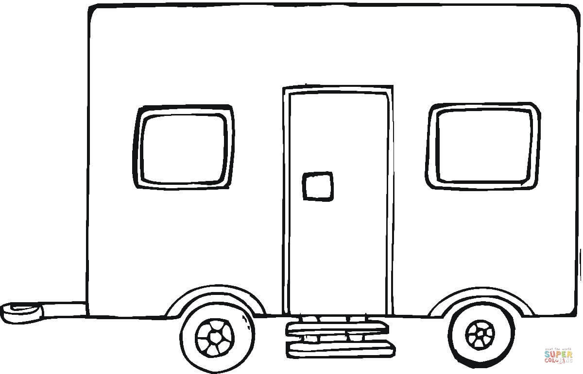 Big Trailer Coloring Page Free Printable Coloring Pages