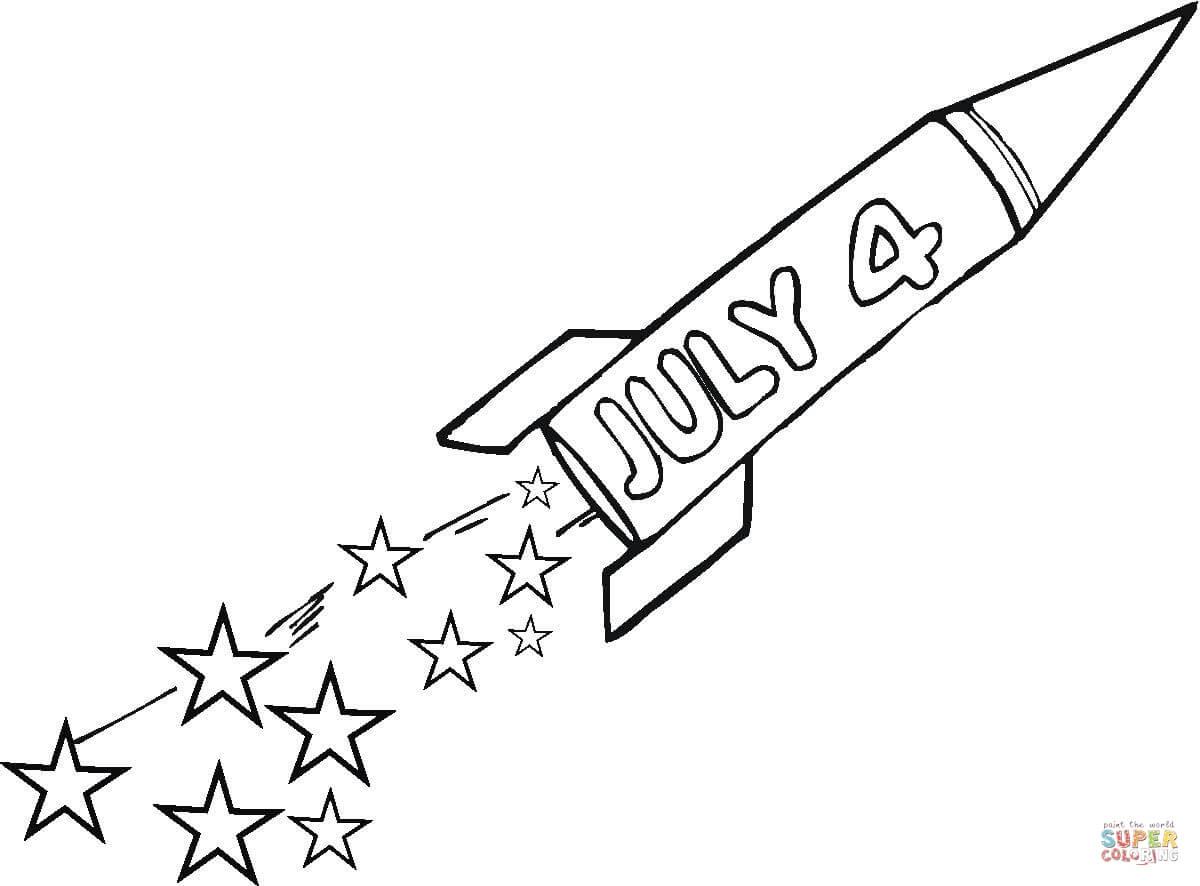 Ausmalbild Vierter Juli