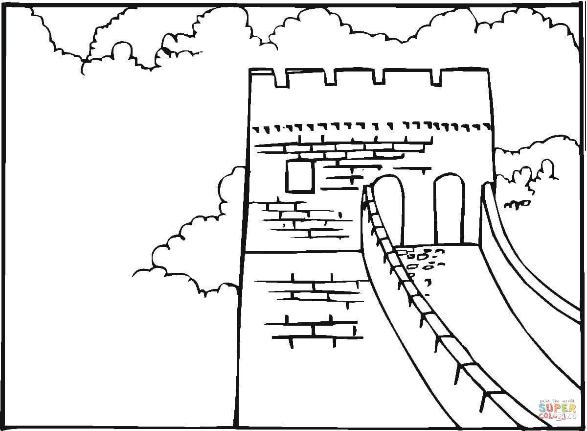 Ausmalbild Chinesische Mauer