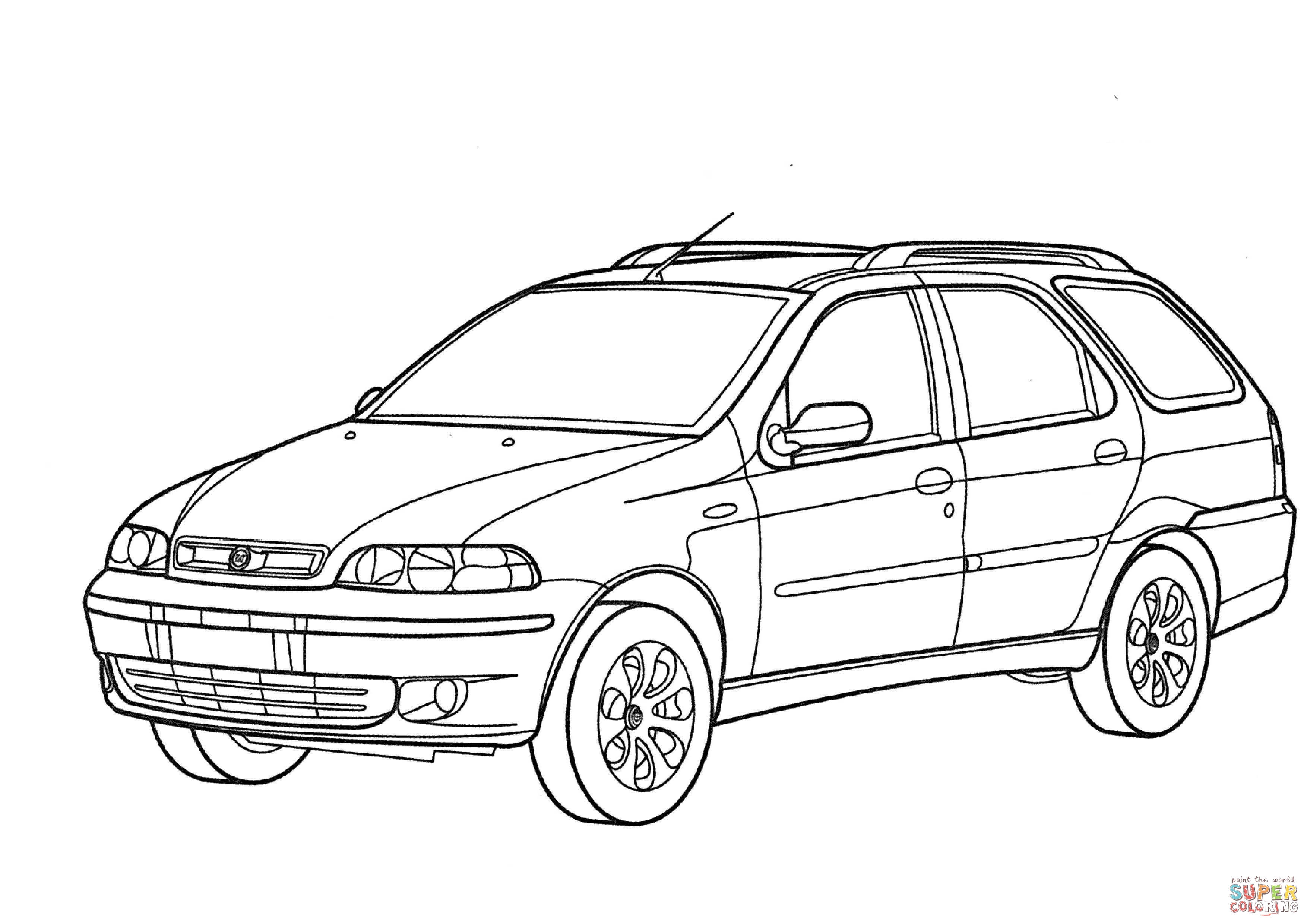 Fiat Palio Coloring Page