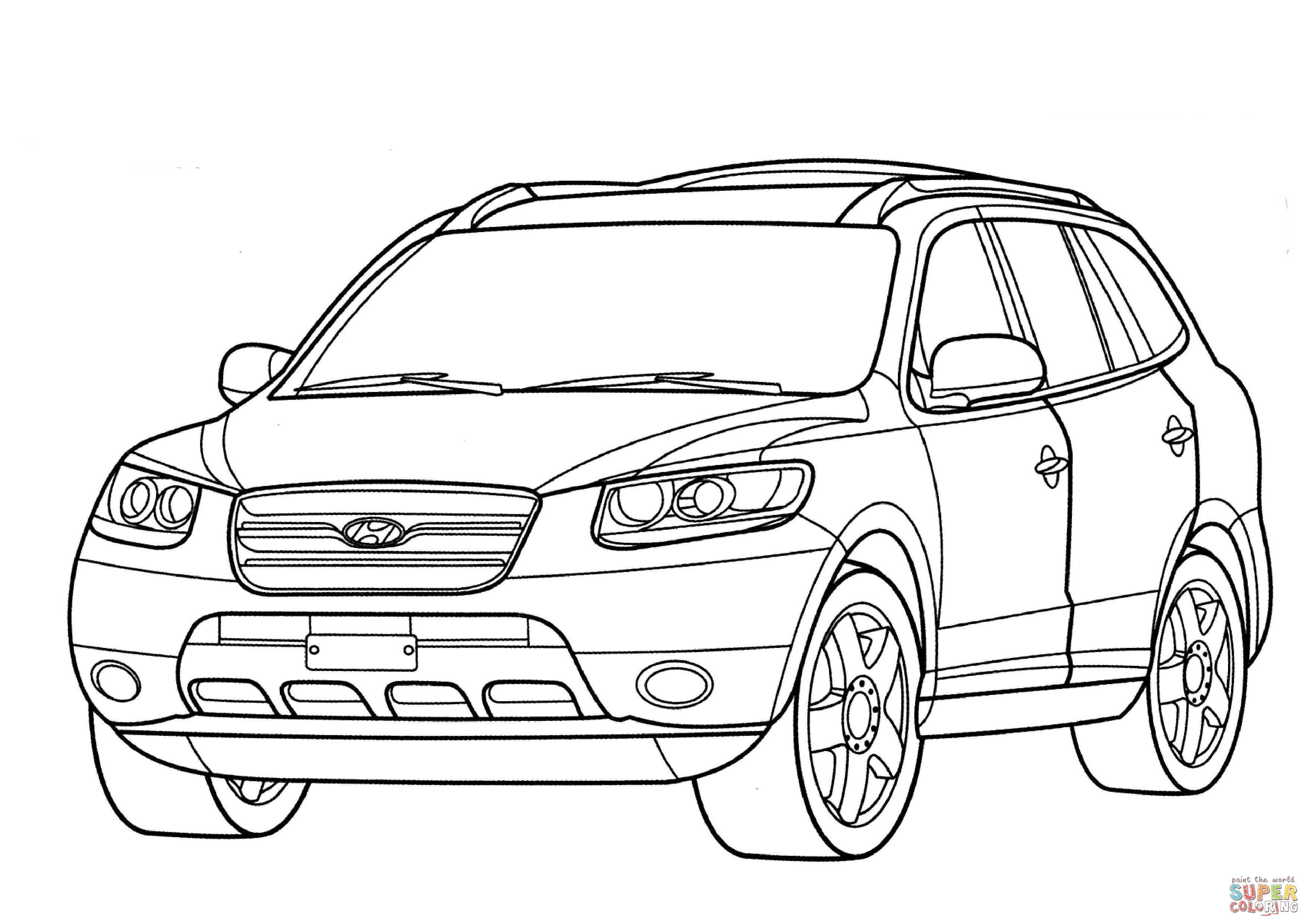 Hyundai Santa Fe Coloring Page