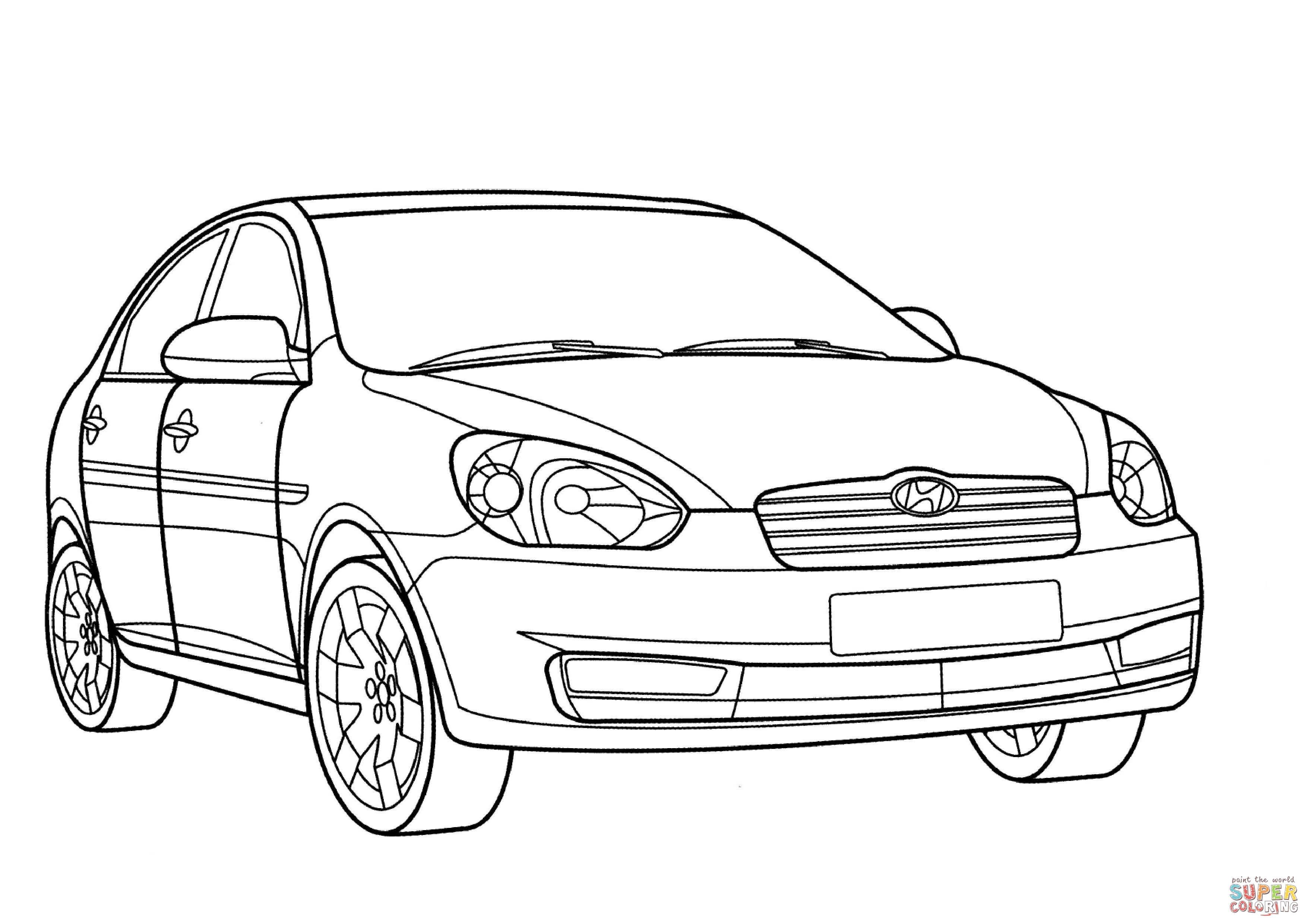 Dibujo De Hyundai Verna Para Colorear
