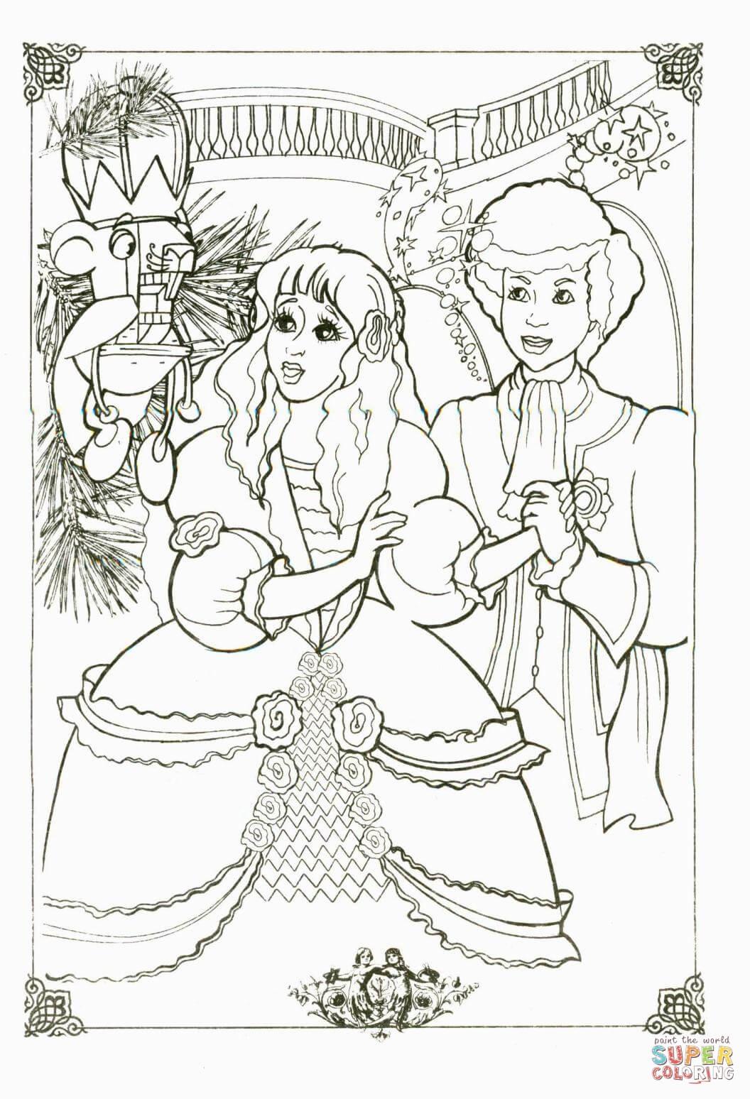 Ausmalbild Der Mausekonig Und Puppen
