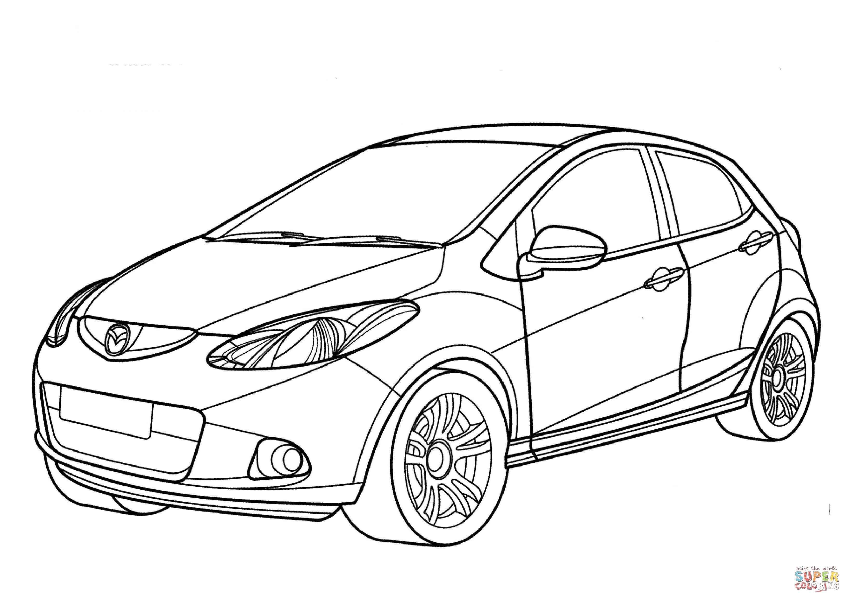 Mazda 2 Coloring Page