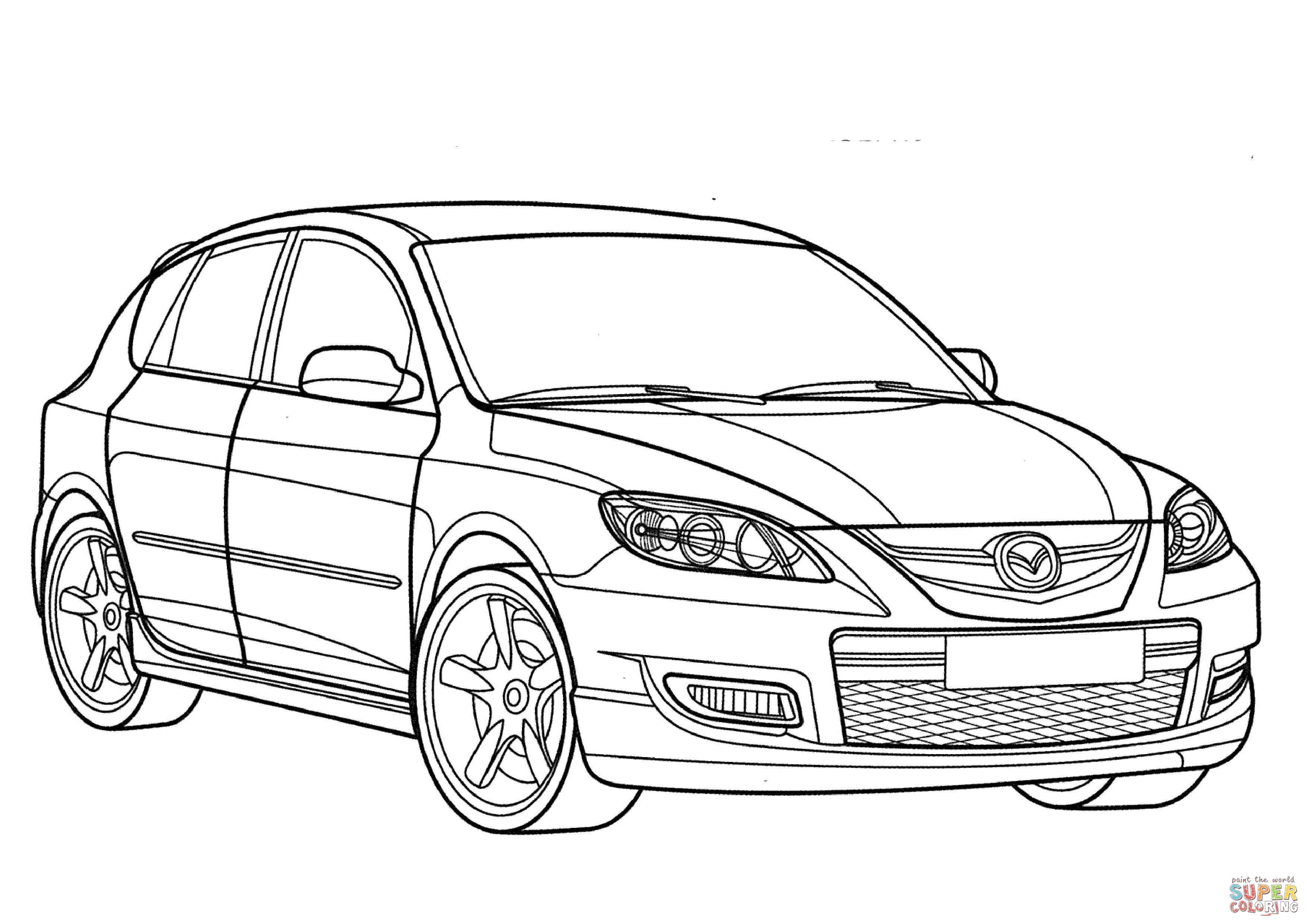 Mazda 3 Mps Coloring Page