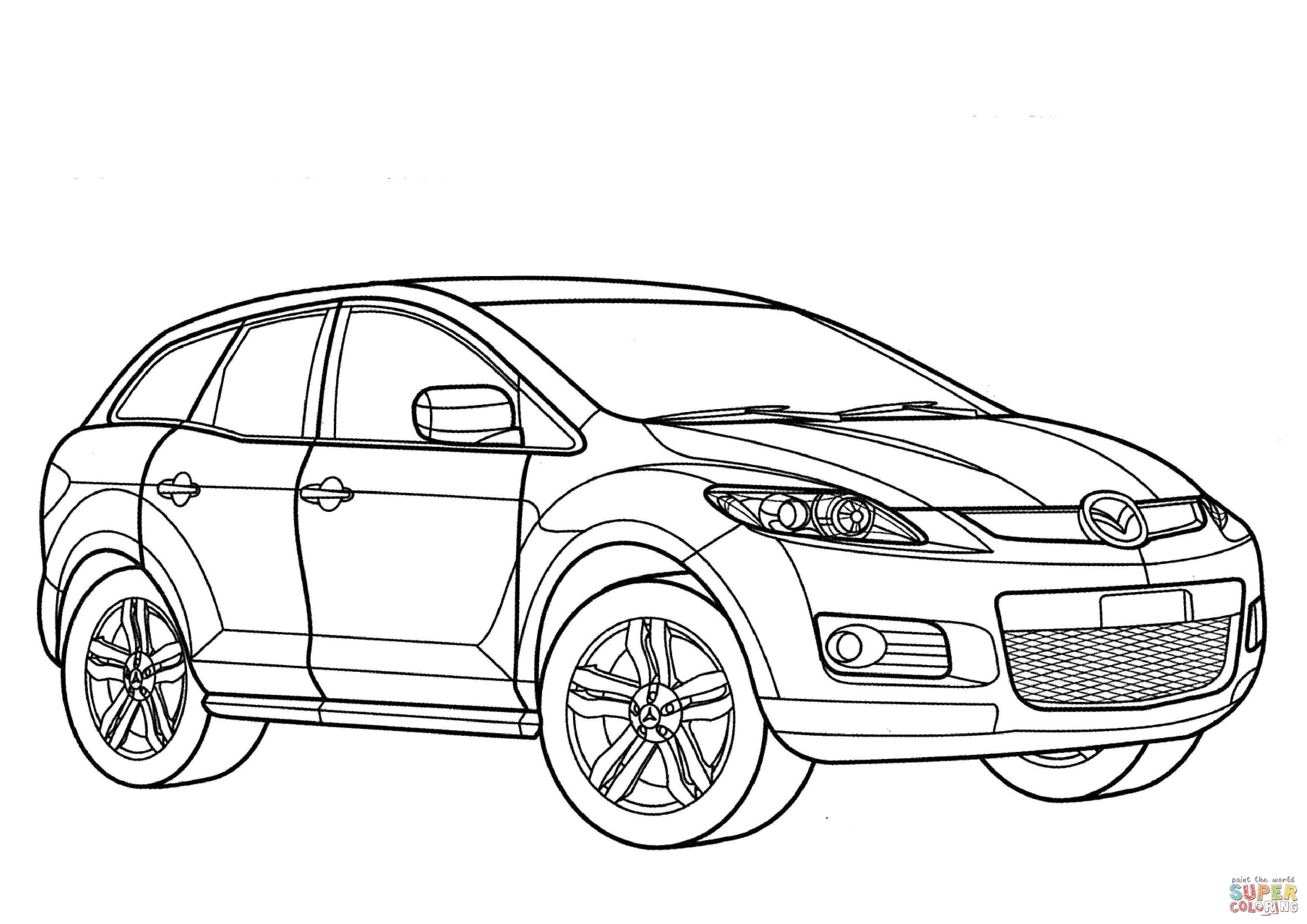 90 Mazda Miata Coloring Pages Coloring Pages