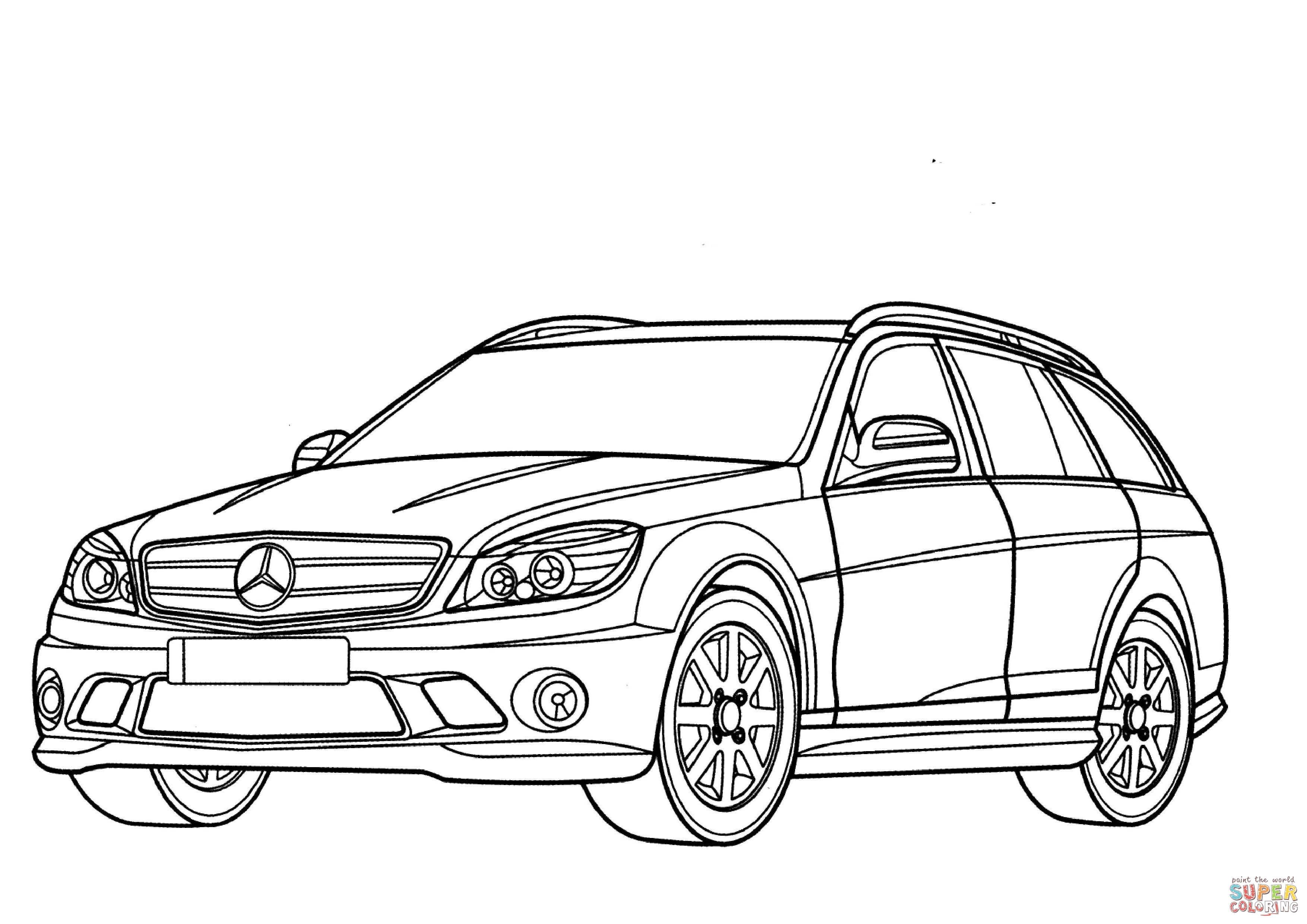 Disegno di Mercedes-Benz Classe C Station Wagon da