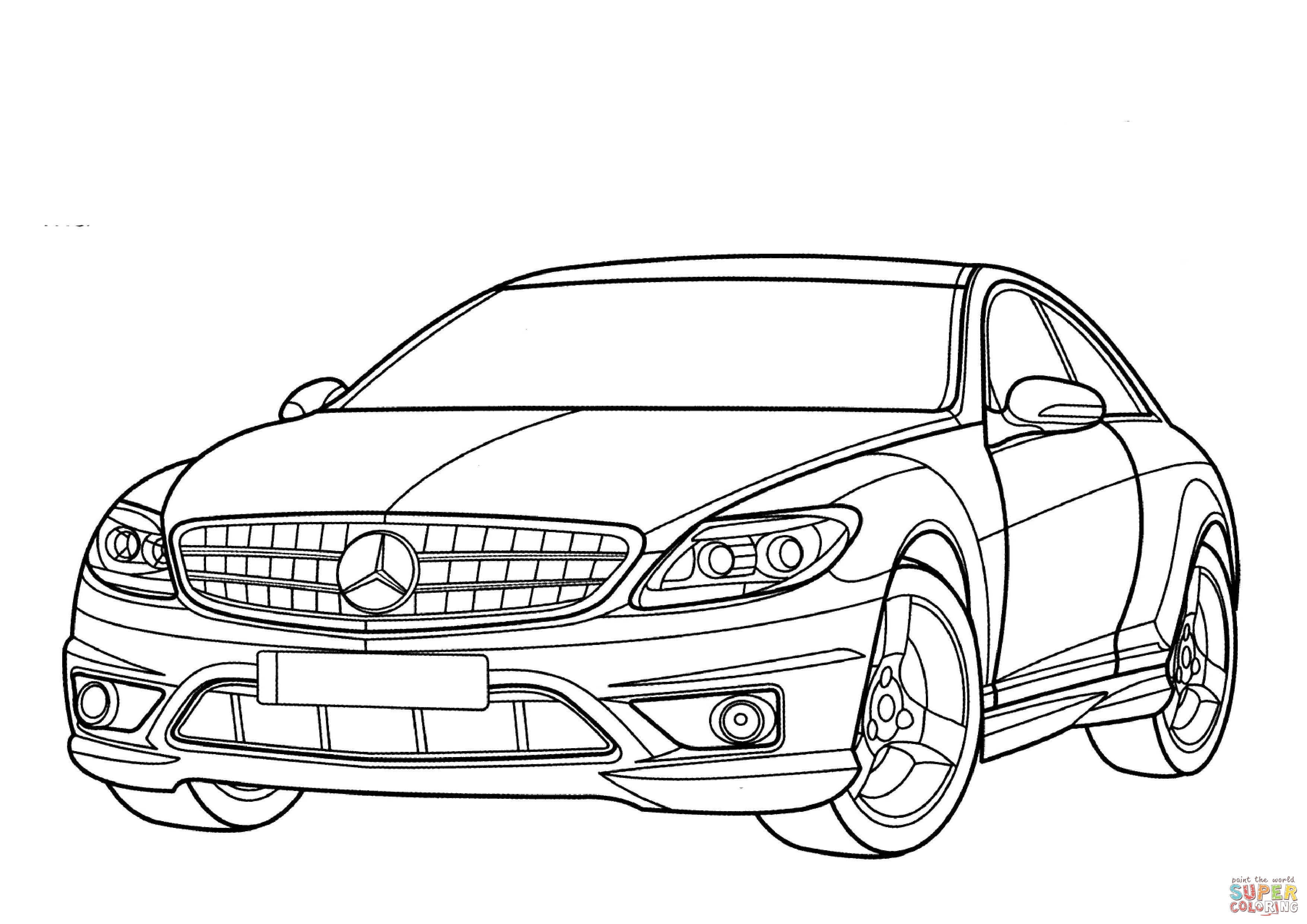 Mercedes Benz Cl Class Coloring Page