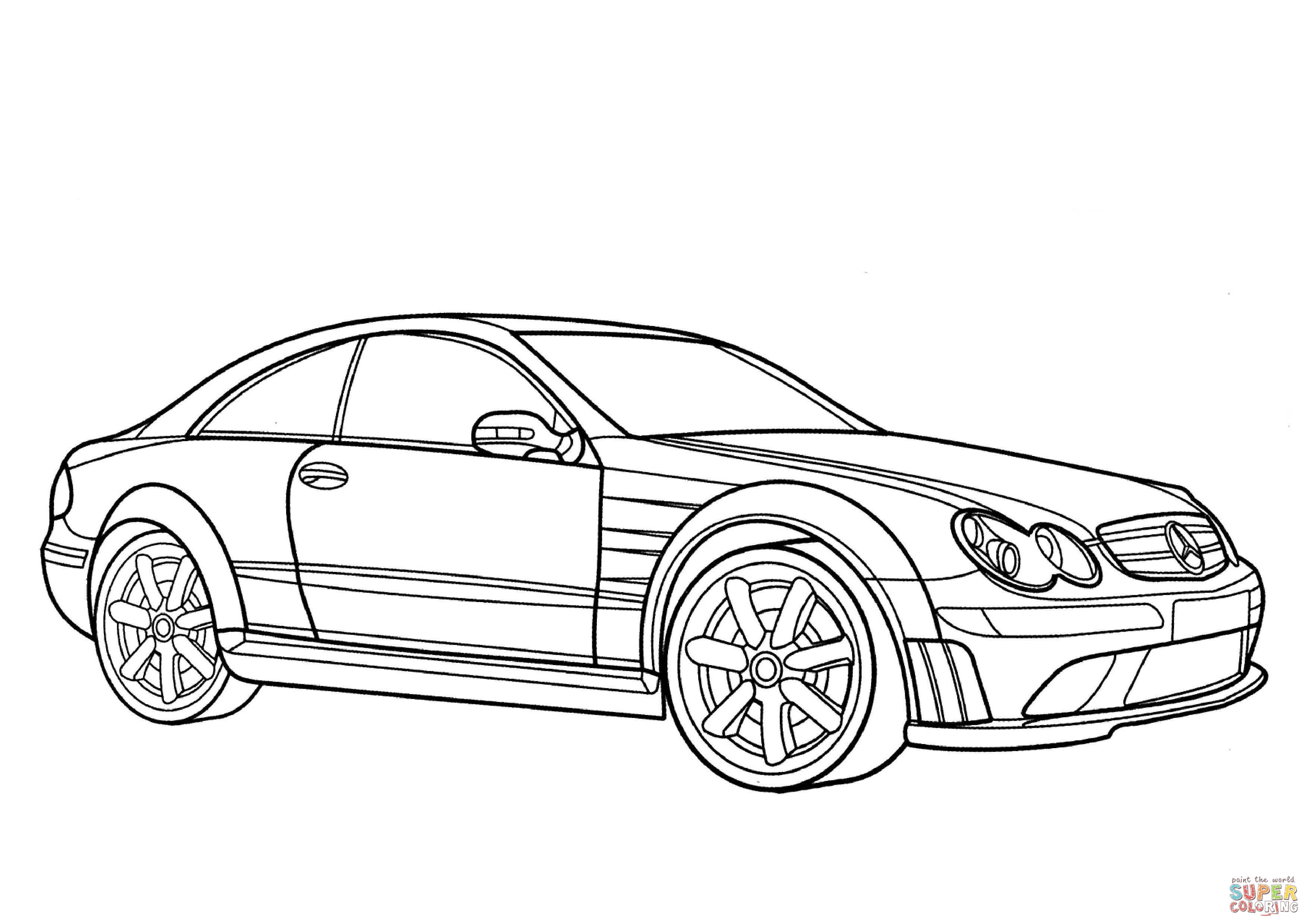 Mercedes Benz Drawings Sketch Coloring Page