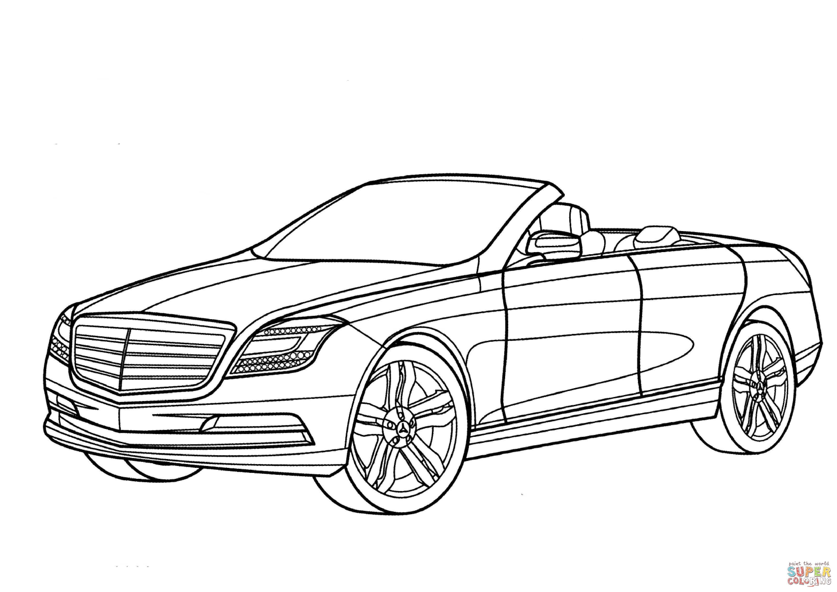Dibujo de Mercedes Benz Ocean Drive para colorear
