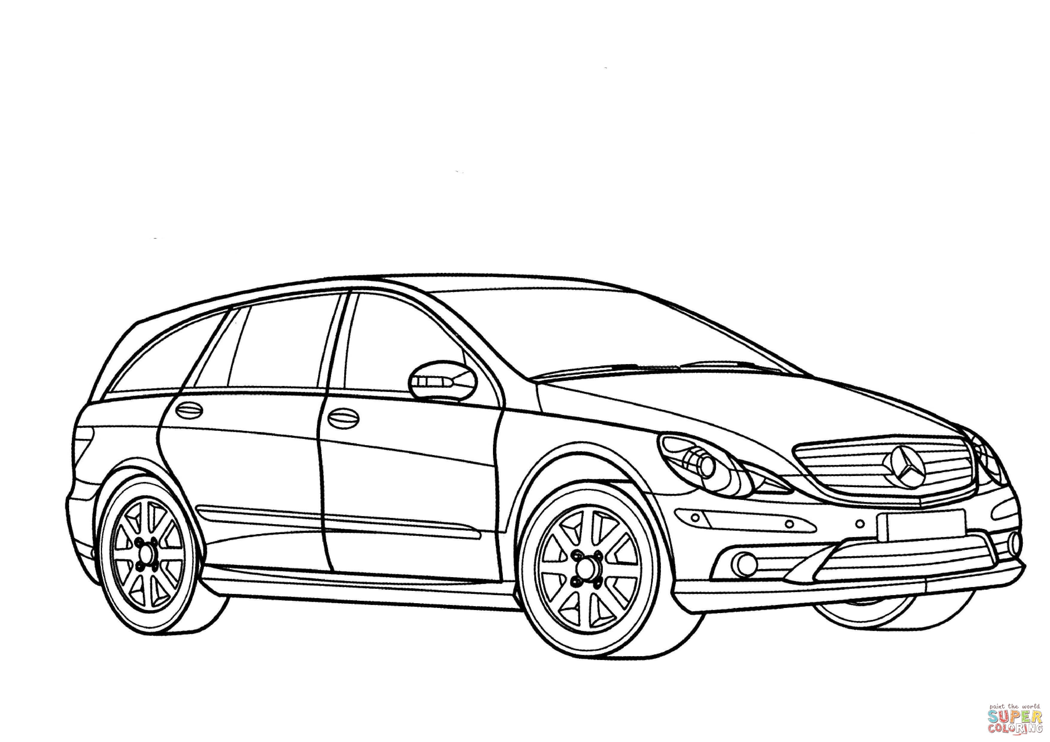 Sketch Mercedes Sls Amg Coloring Pages