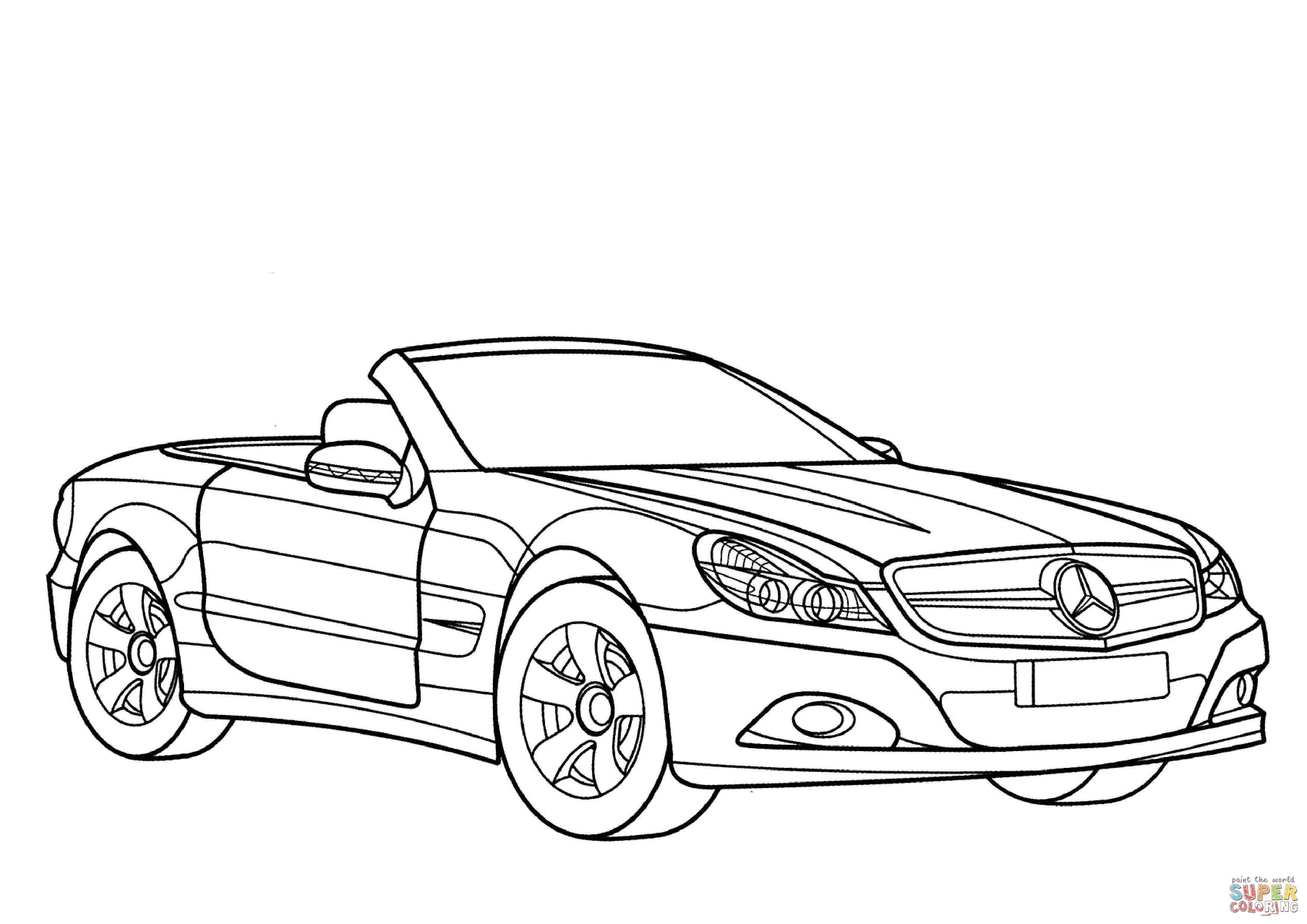 Fr Coloriages Mercedes Benz Classe Sl