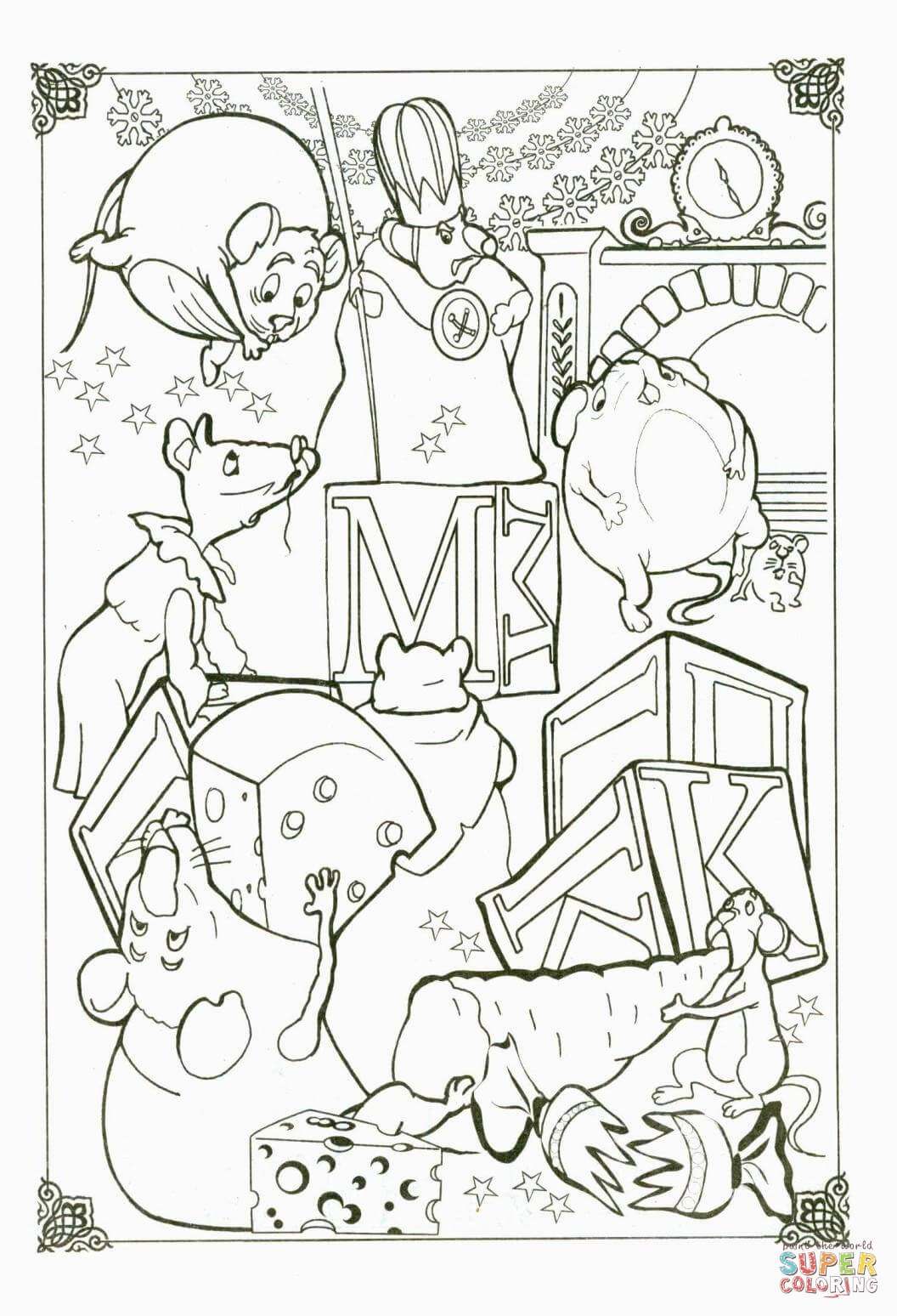 Mice Coloring Page
