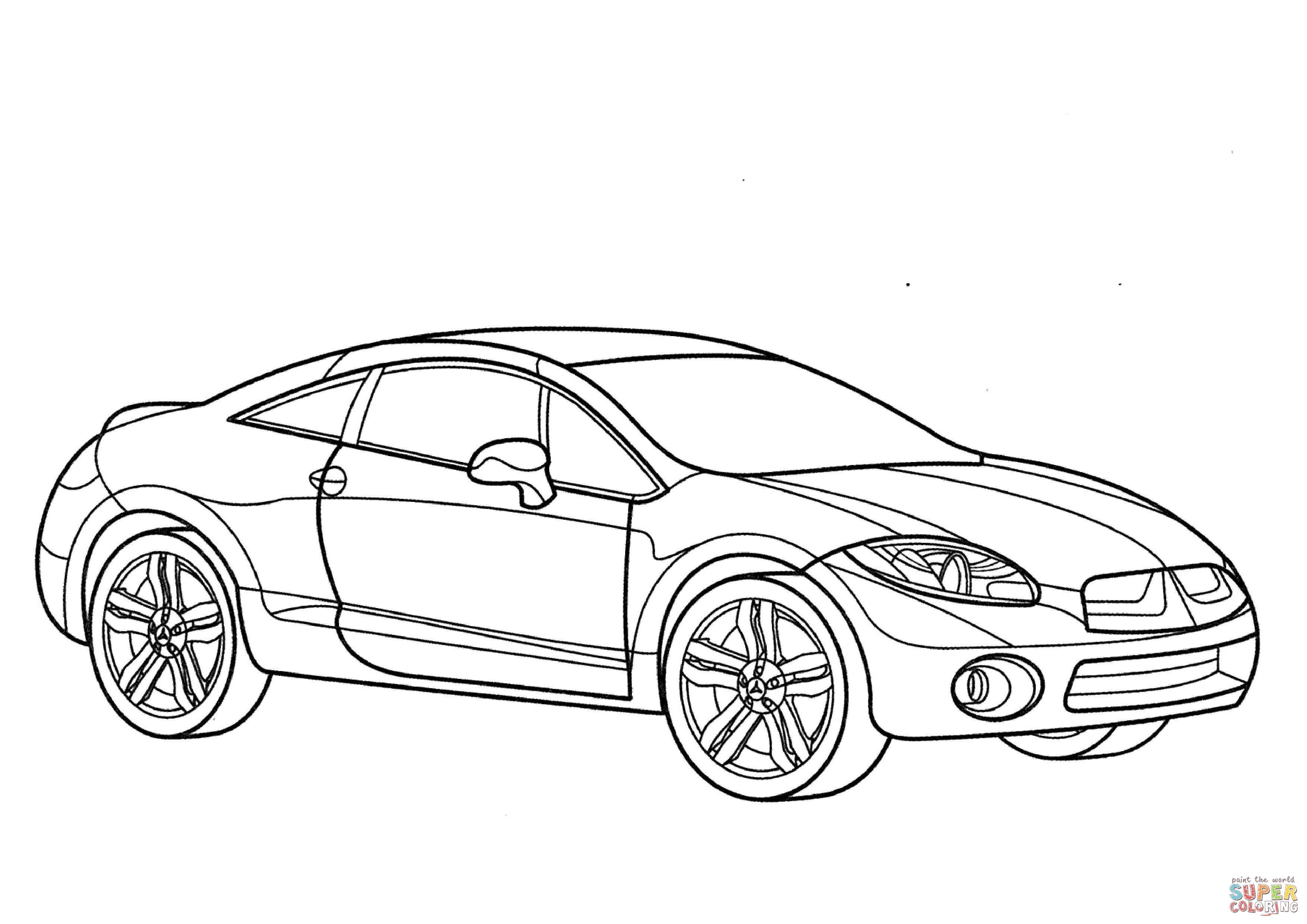 Kleurplaten Fast And Furious 7 Ausmalbild: Mitsubishi