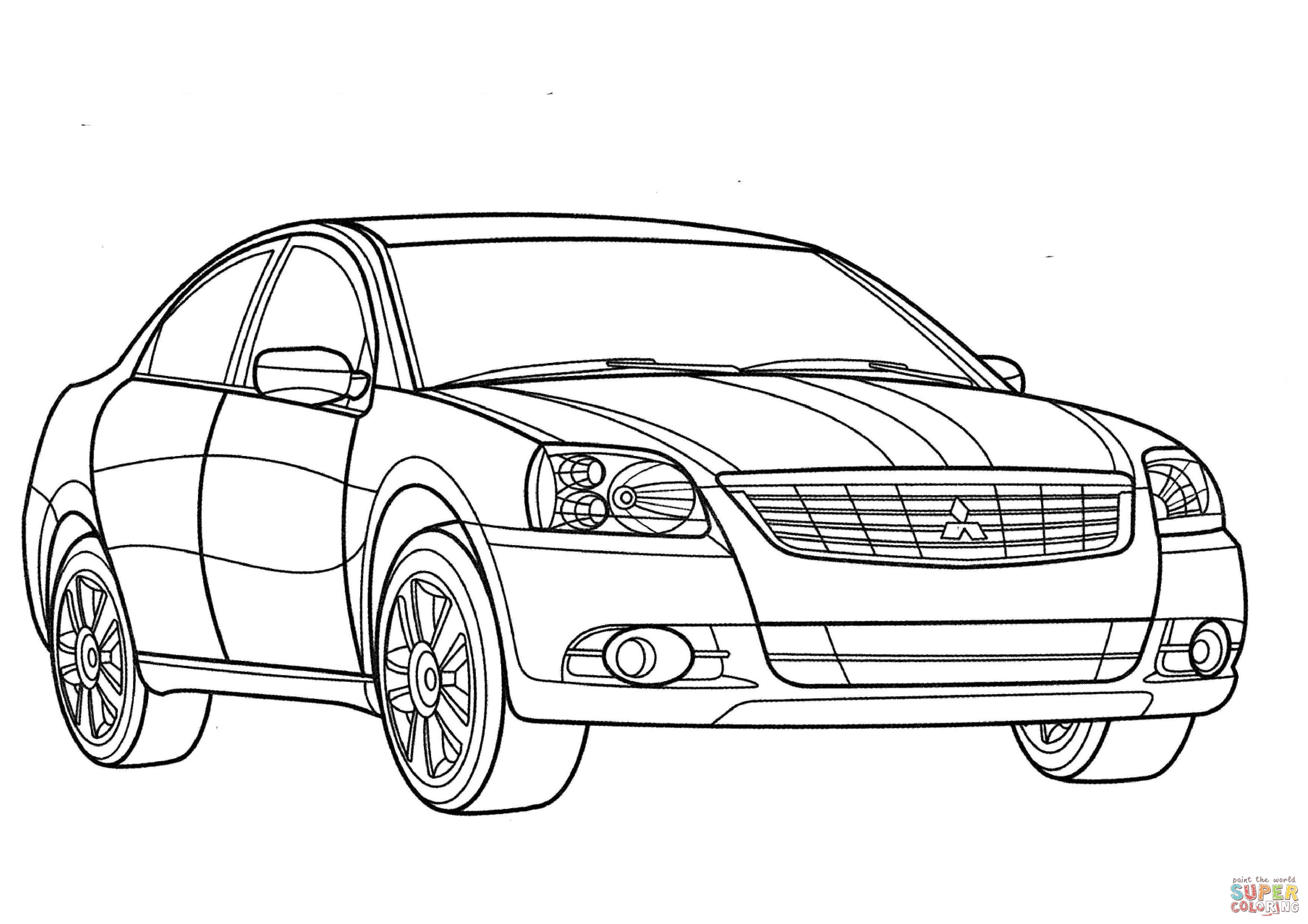 Mitsubishi Eclipse Coloring Pages Sketch Coloring Page