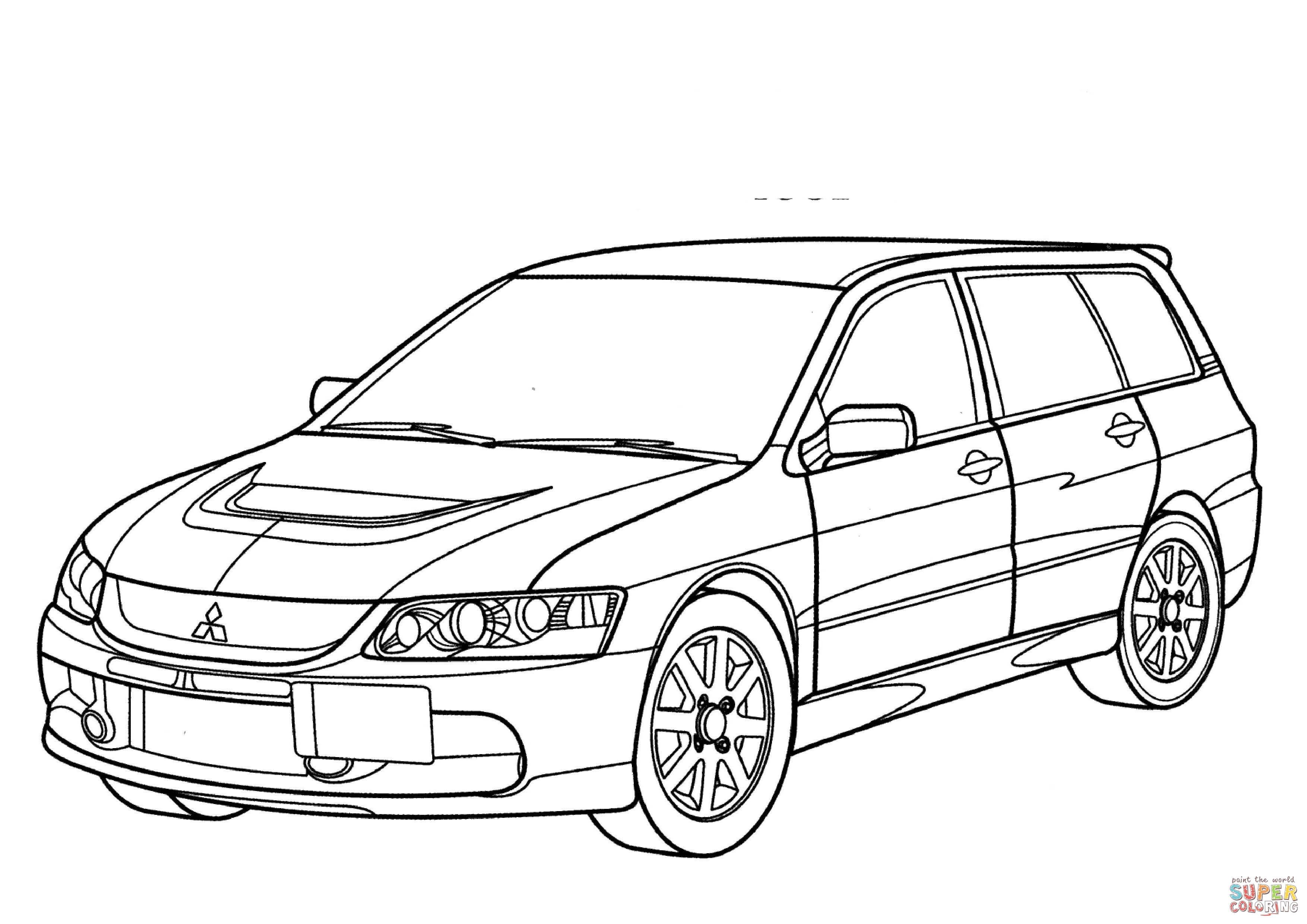 Disegno di Mitsubishi Lancer Evolution Wagon GT da
