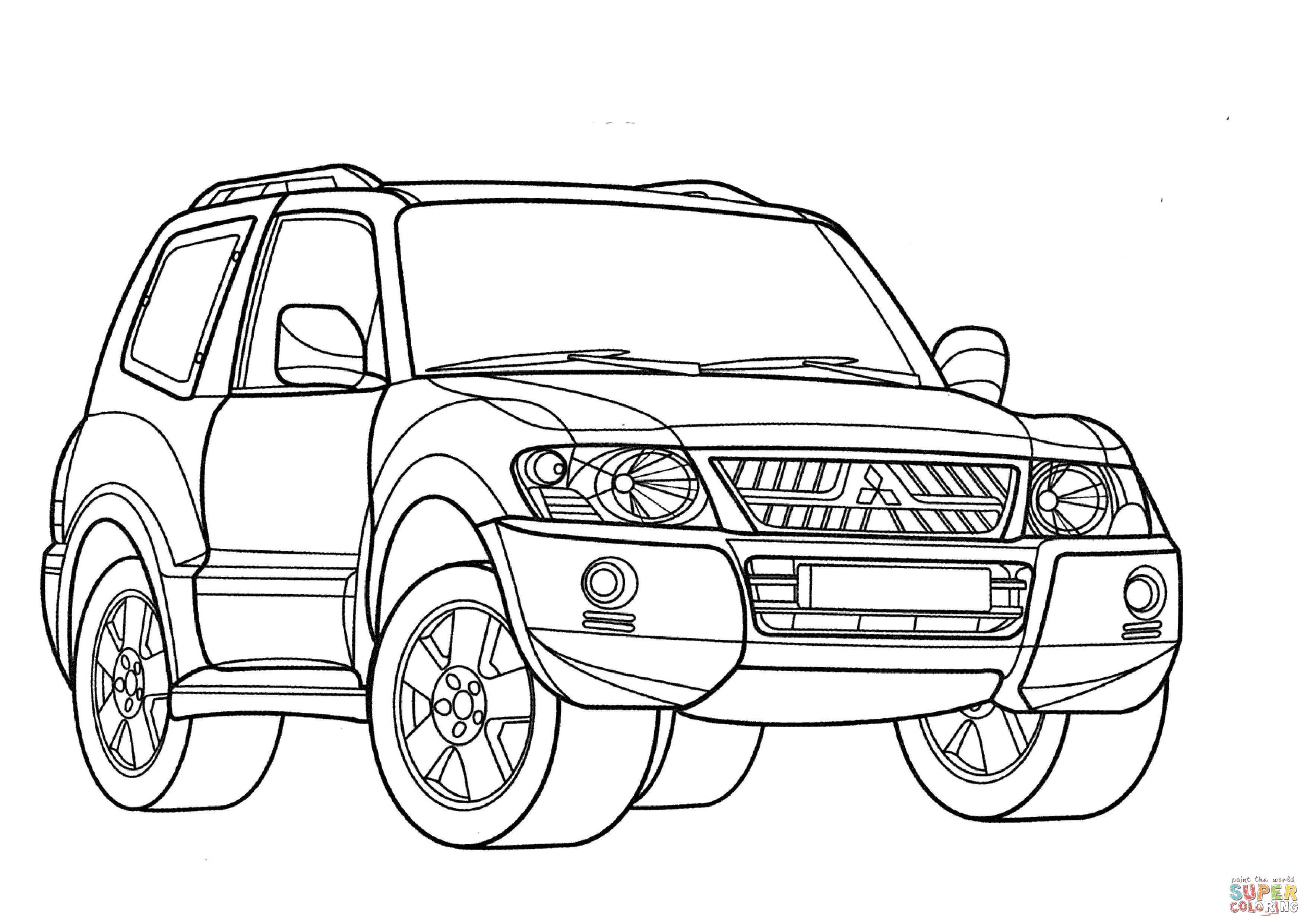 Mitsubishi Montero Coloring Page