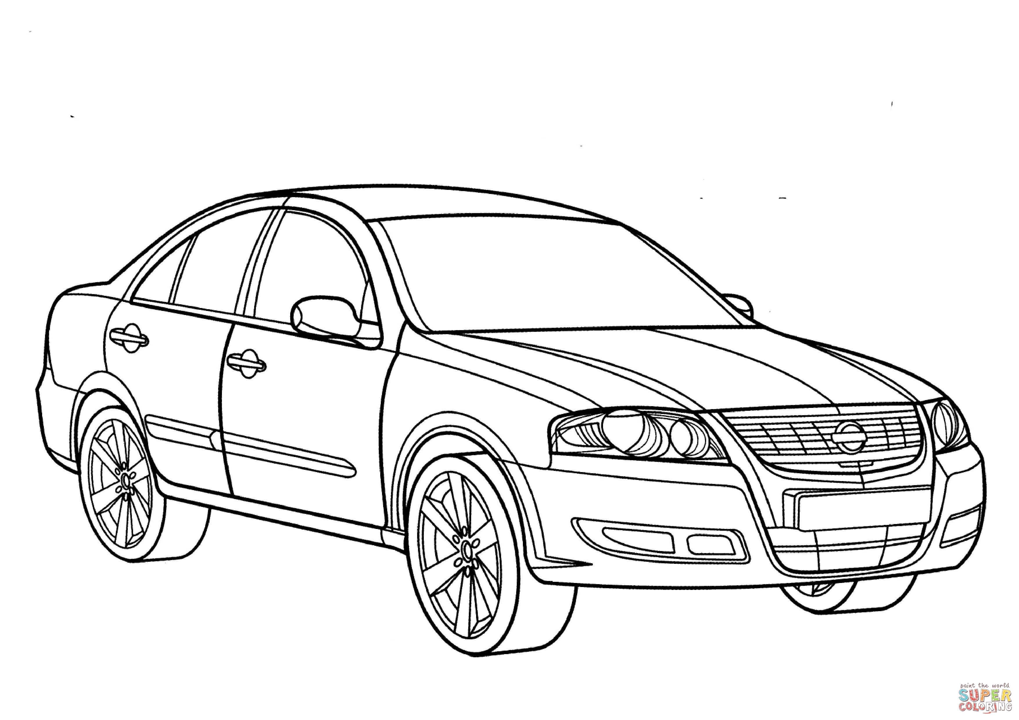 Dibujo De Nissan Almera Para Colorear