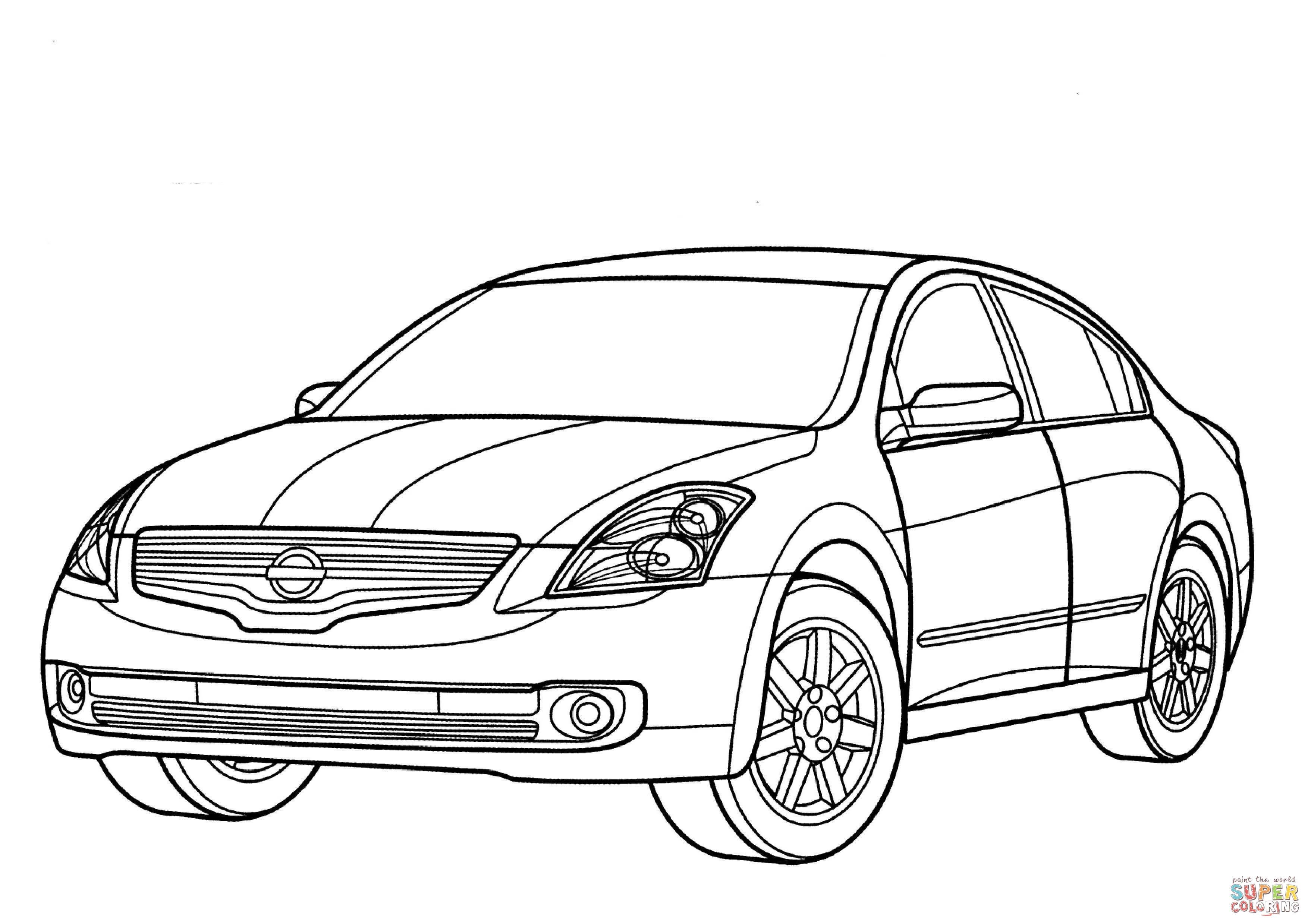 Dibujo De Nissan Altima Hibrido Para Colorear