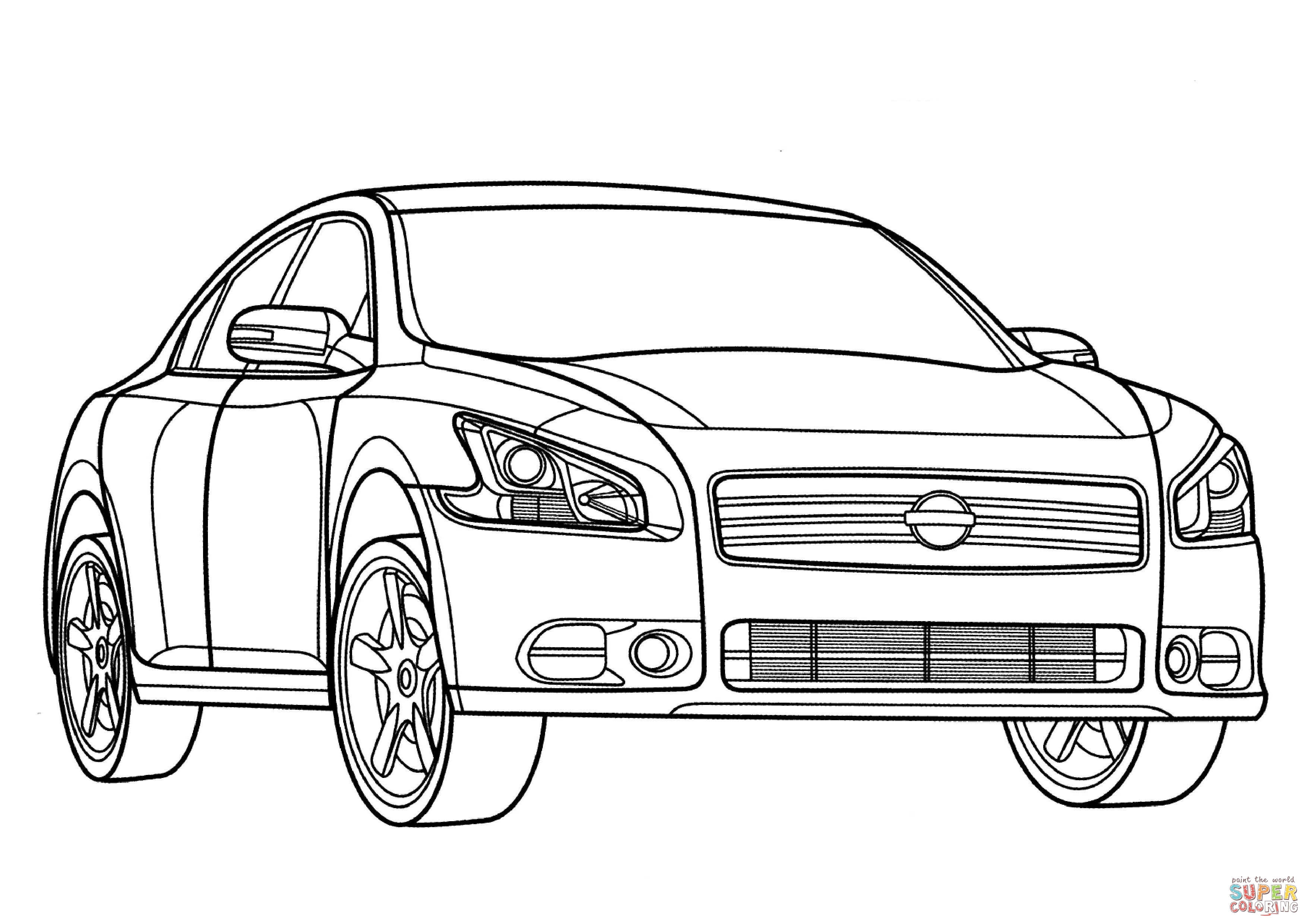 Nissan Maxima Coloring Page