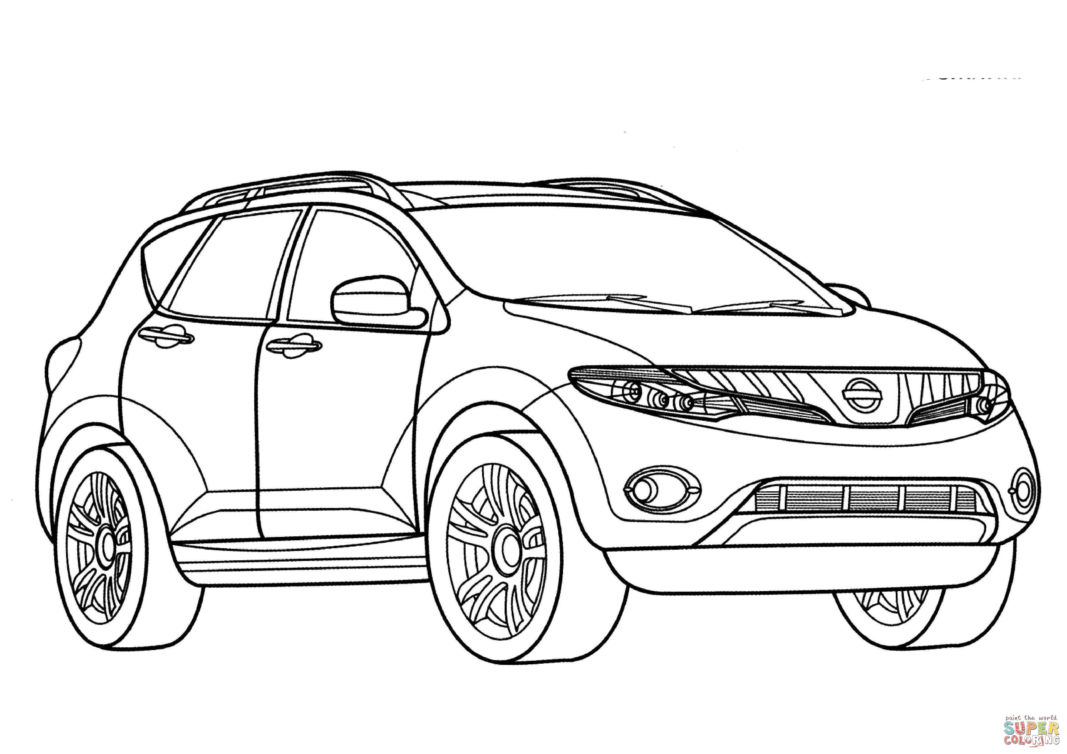 Nissan Murano Coloring Page