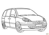 Peugeot 807 minivan coloring page | Free Printable ...