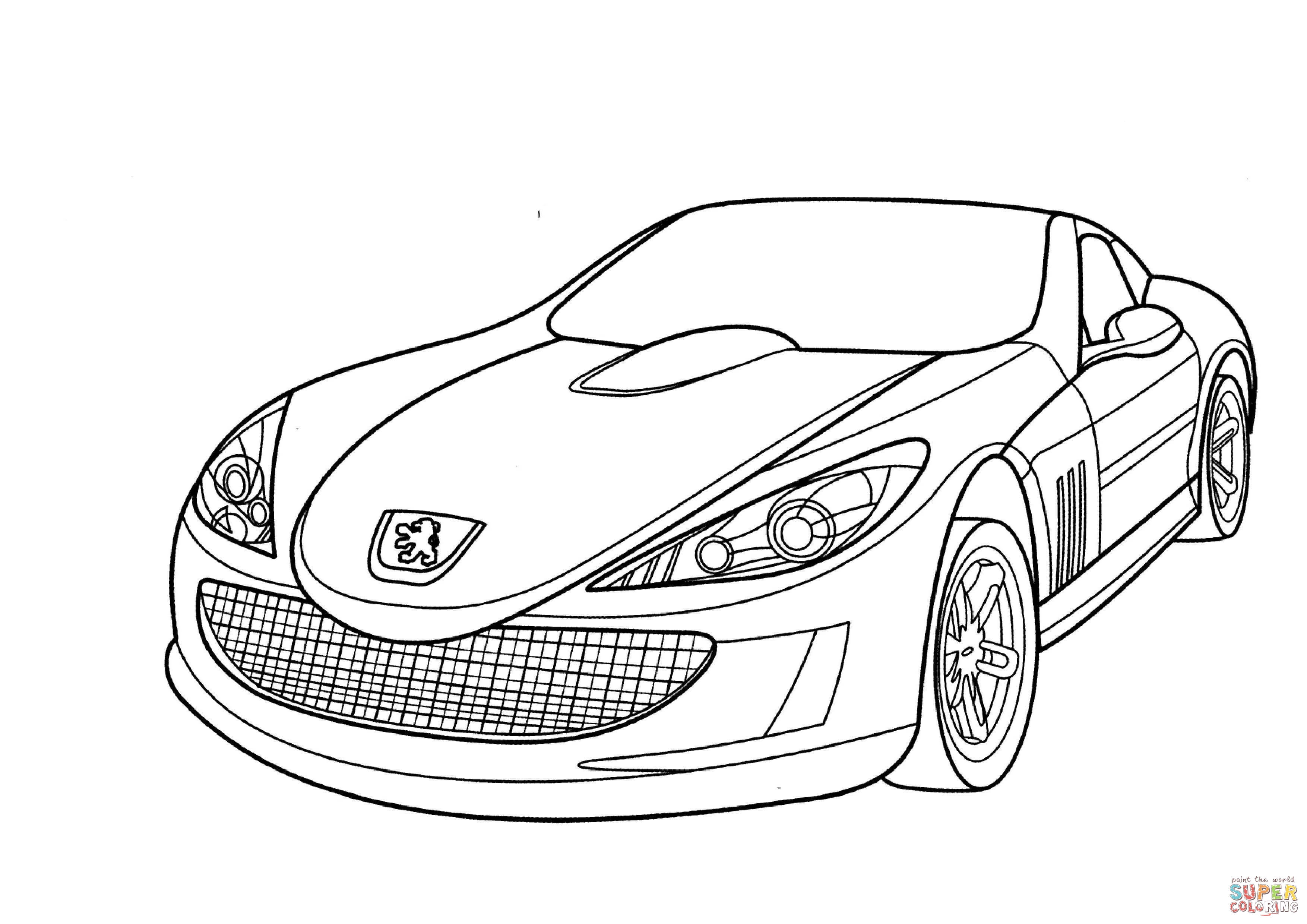 Peugeot 907 Coloring Page Free Printable Coloring Pages