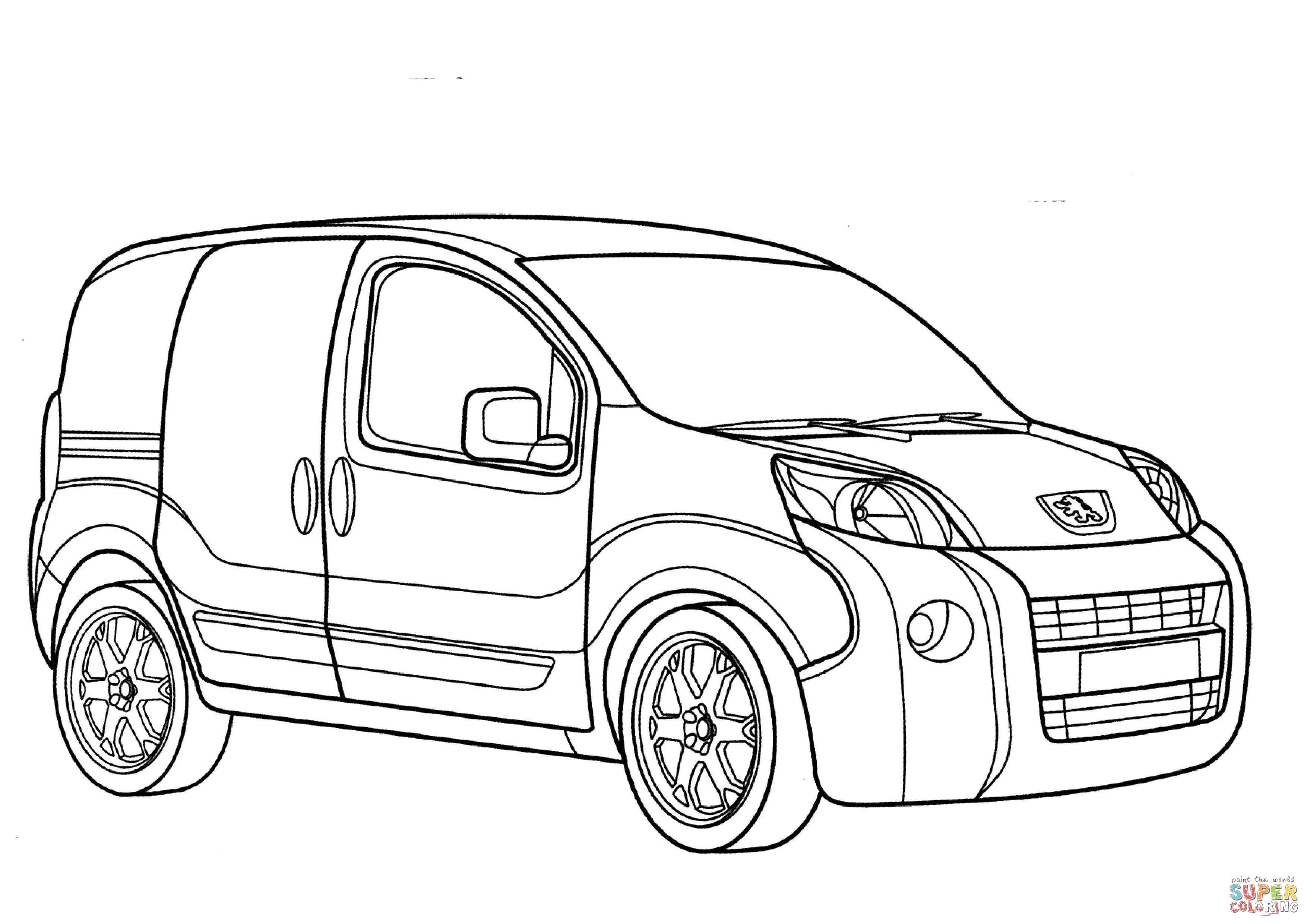 Peugeot Bipper Coloring Page