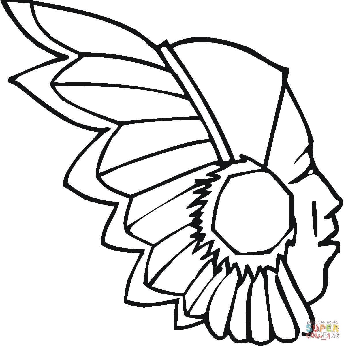 Dibujo De Penacho Indigena Para Colorear