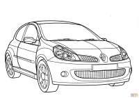 Dibujo de Renault Clio Sport para colorear | Dibujos para ...