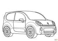 Dibujo de Renault Kangoo Compact para colorear | Dibujos ...