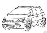 Dibujo de Renault Scenic para colorear | Dibujos para ...