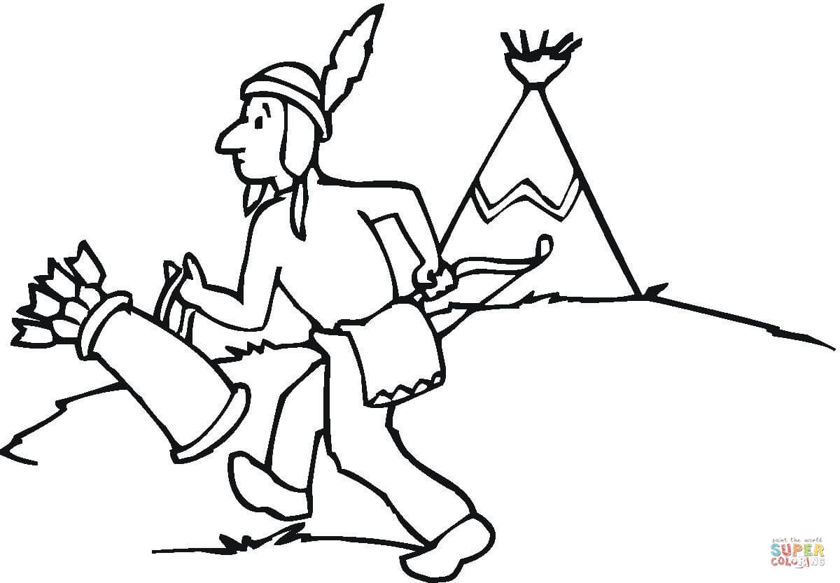Indian Teepee Coloring Pages Coloring Pages