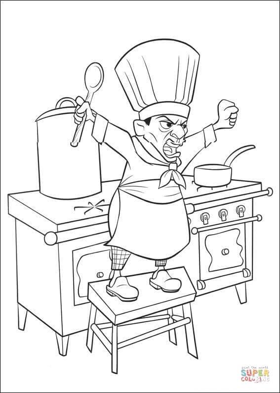Disegno di Skinner è uno chef sempre arrabbiato da