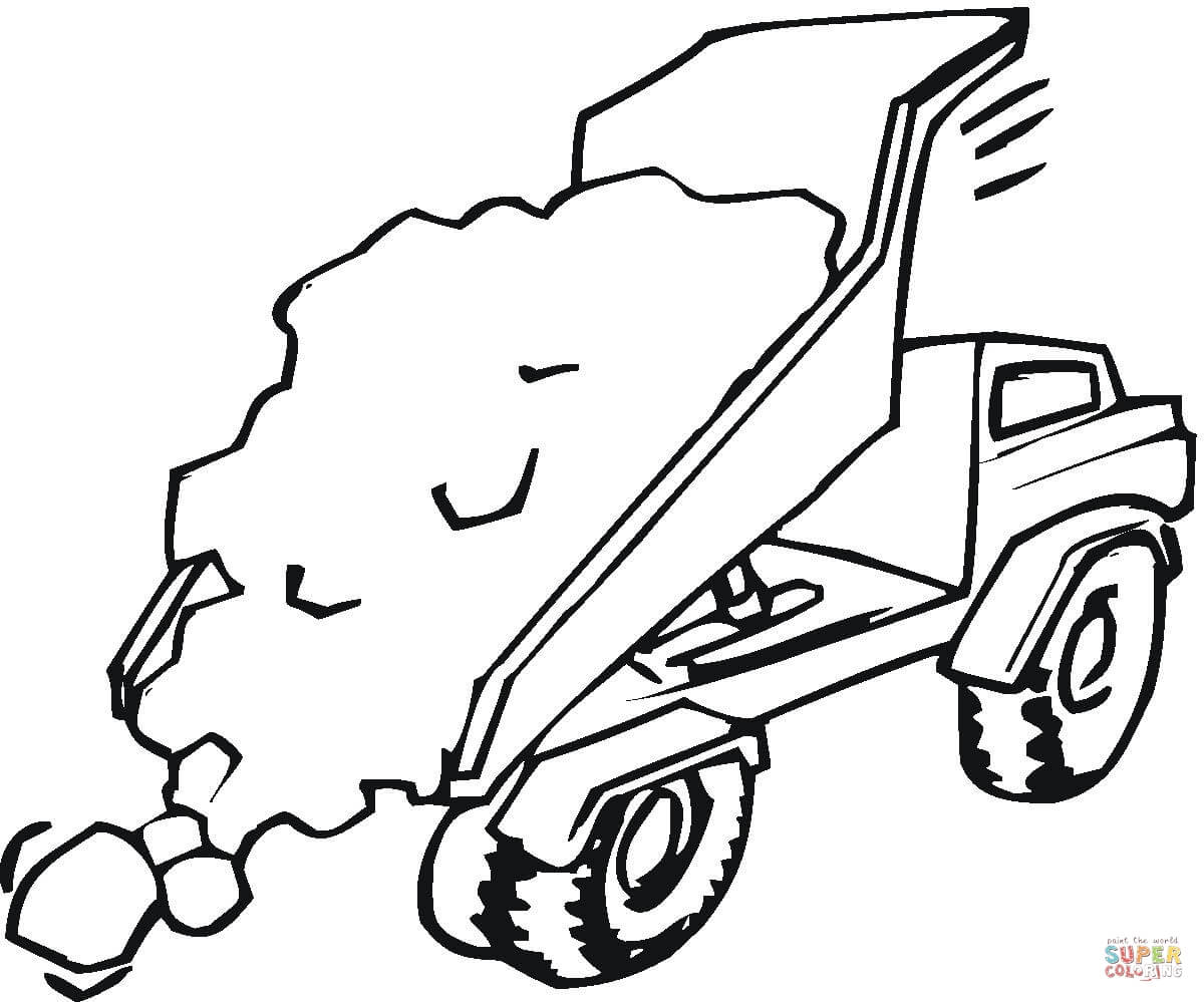 hight resolution of trucks coloring pages free coloring pagestipper truck is full of sand