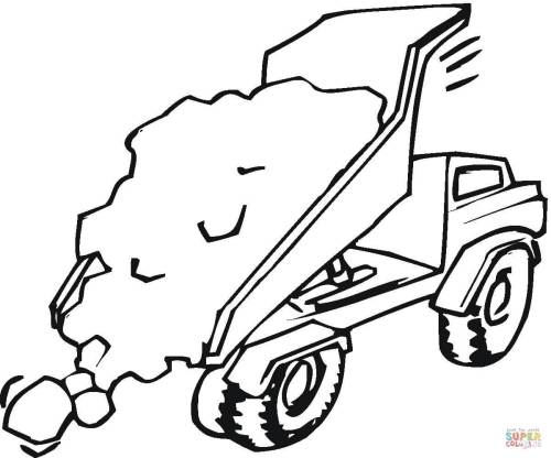 small resolution of trucks coloring pages free coloring pagestipper truck is full of sand