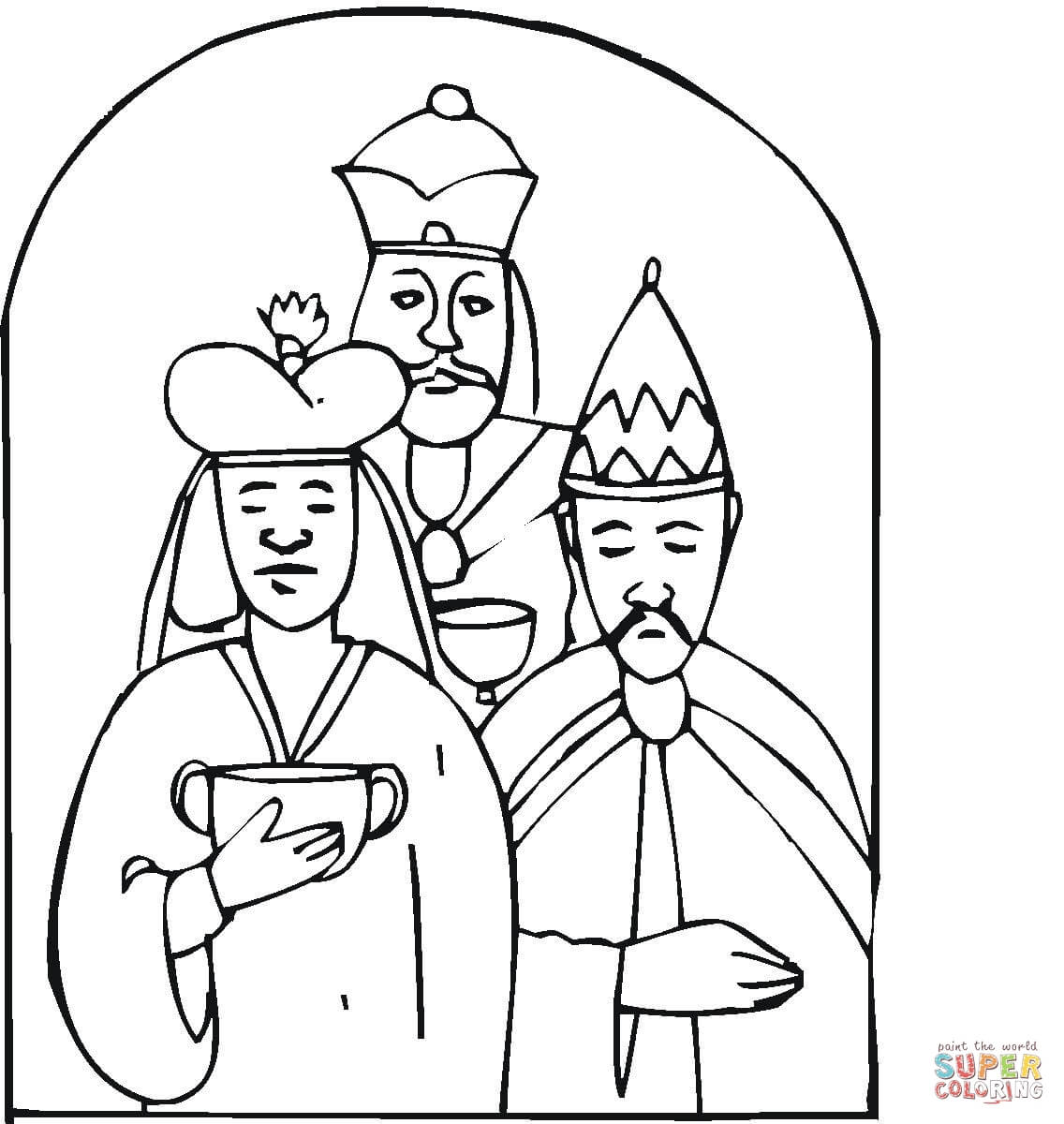 Wise Men Came With Gifts To Worship Little Jesus coloring