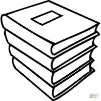 A pile of books coloring page | Free Printable Coloring Pages