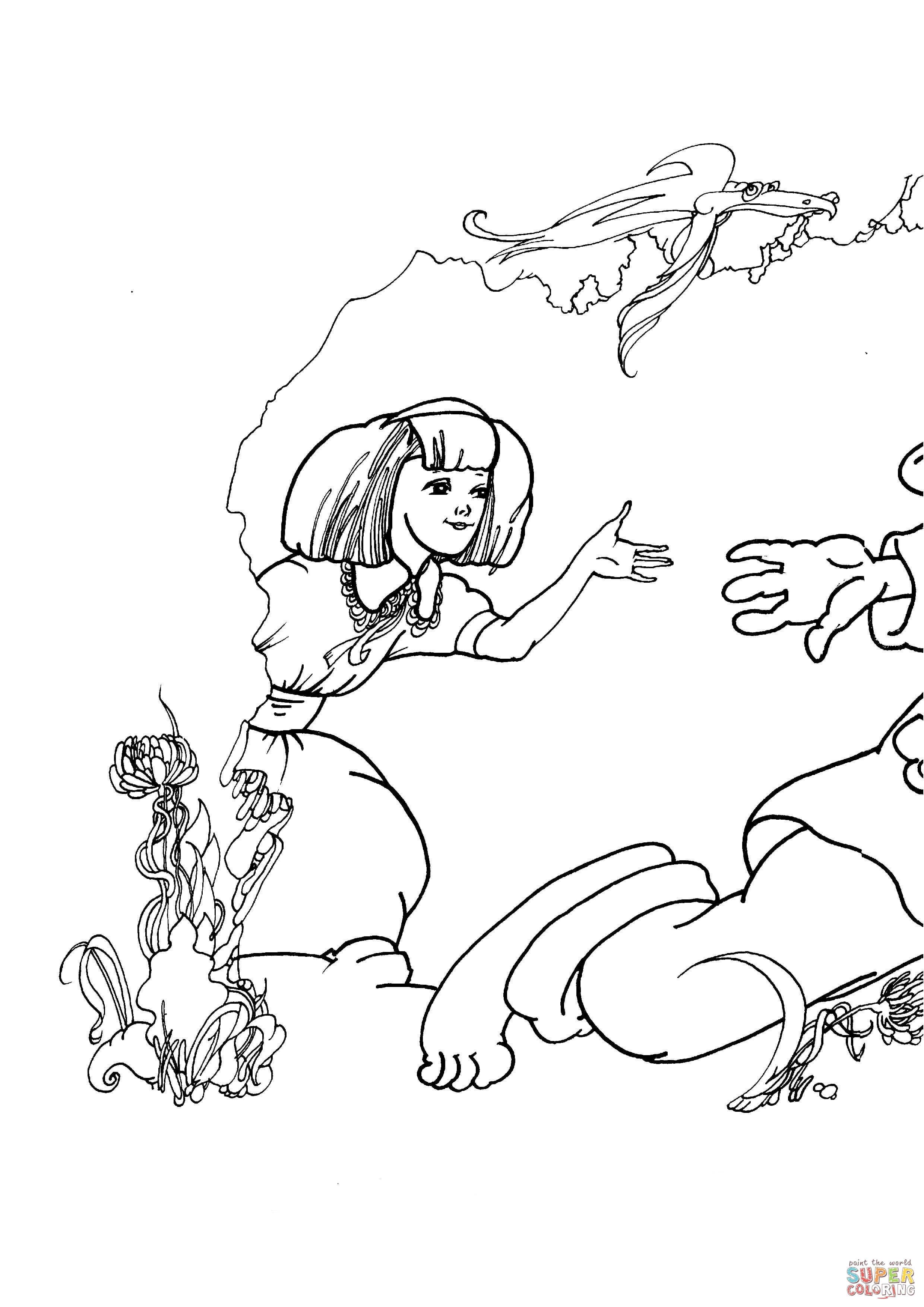 Disegno Di Alice Nel Paese Delle Meraviglie Da Colorare