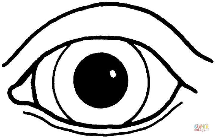 Ausmalbild Ein Auge Ausmalbilder kostenlos zum ausdrucken