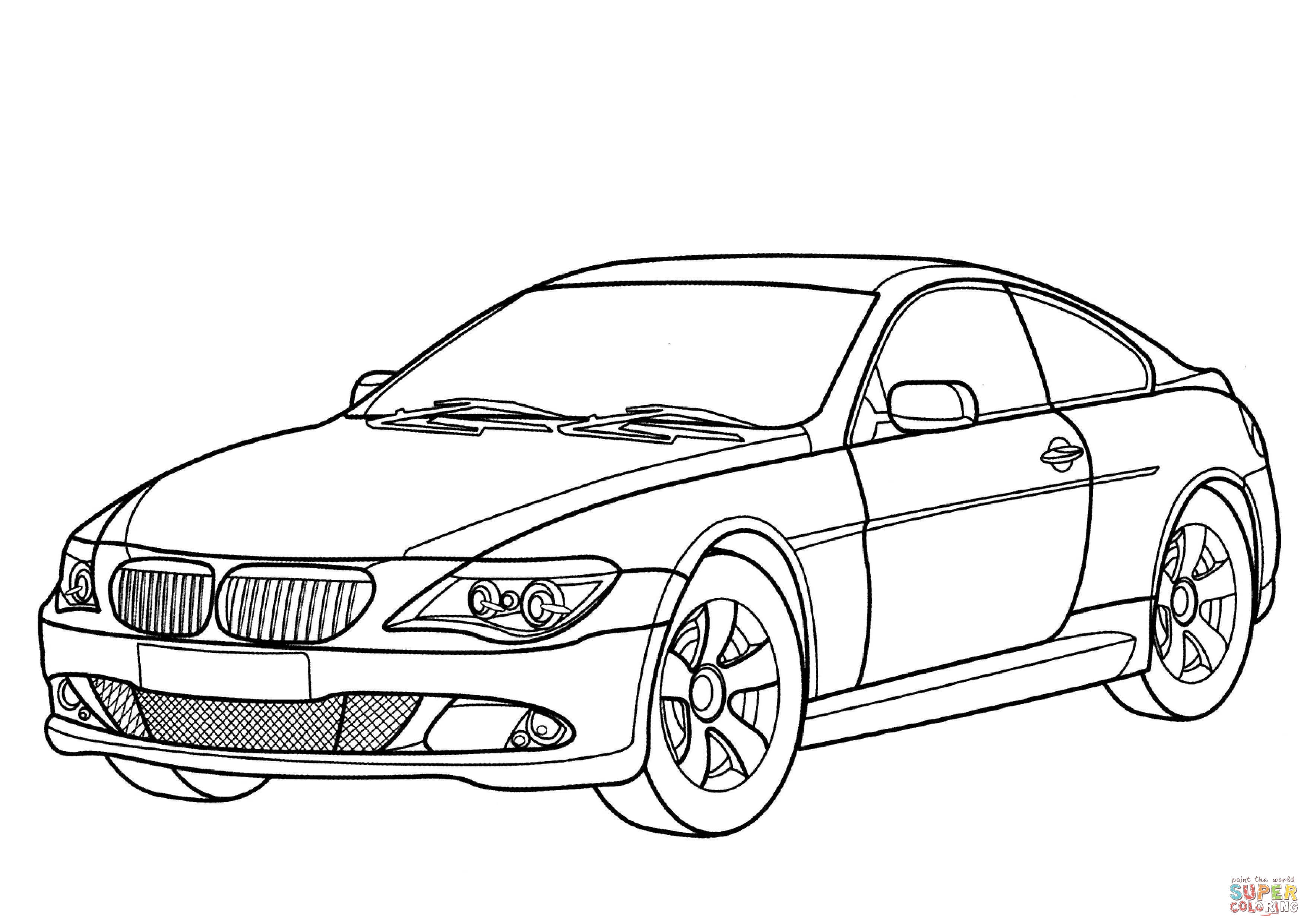 Bmw 6 Series Coloring Page